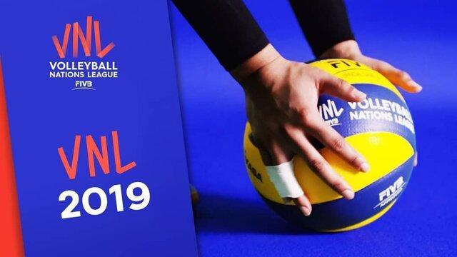 برنامه و نتایج کامل فینال لیگ ملت های والیبال 2019