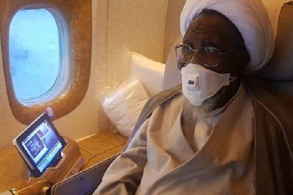 شیخ زکزاکی از بازگشت خود از هند به نیجریه اطلاع داد