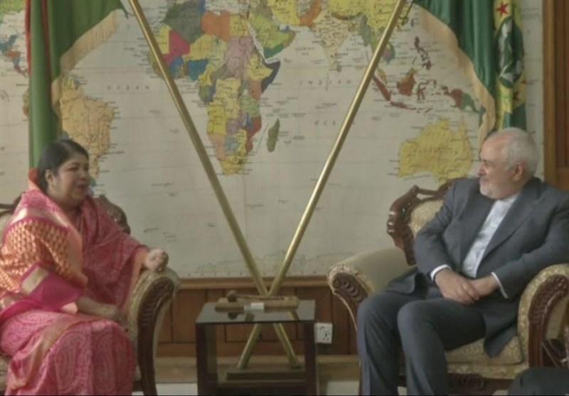 دیدار و گفتگوی ظریف با رئیس مجلس بنگلادش