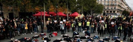 تظاهرات زنان فرانسوی برای مقابله با خشونت خانگی