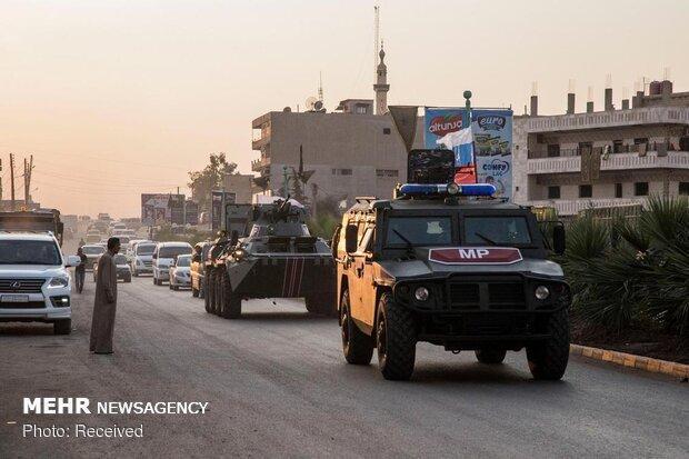ورود نیروهای روسی به شهر الرقه برای نخستین بار