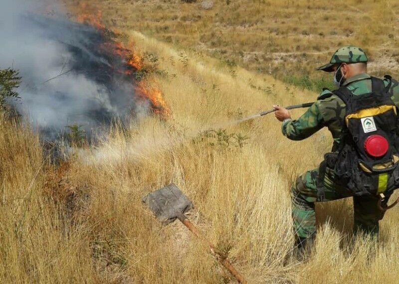 خبرنگاران 15 هکتار از اراضی شمیرانات در آتش سوخت